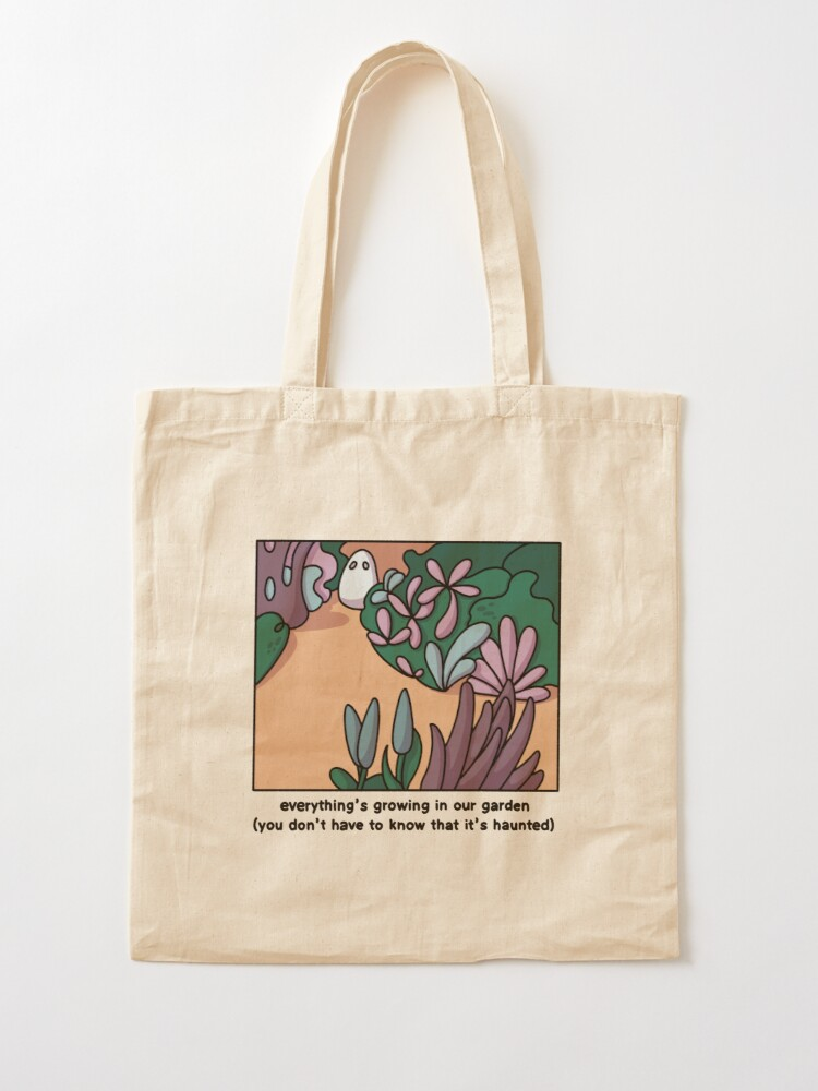 Alternate view of Everything's growing in our garden Tote Bag