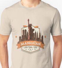 Manhatan Retro-style Badge (Inspired by Fringe) Unisex T-Shirt
