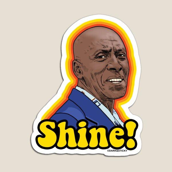 """El resplandor de Dick Hallorann """"Shine!"""" Pegatina - Retro sunburst Imán"""