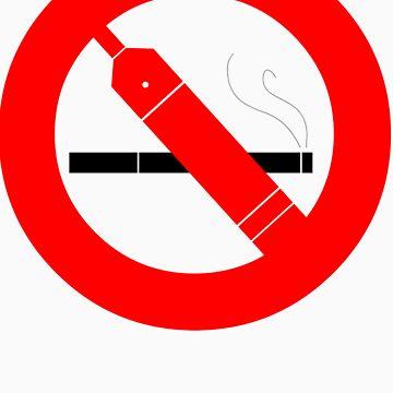 NO SMOKING (just vape it) LIGHT SHIRT VERSION by KaminaDash