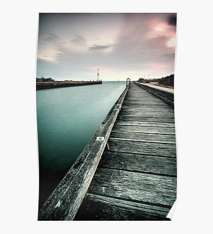 Mordialloc Pier on a summers night. Poster