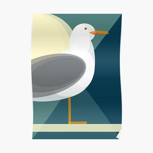 Mid Century Seagull Poster