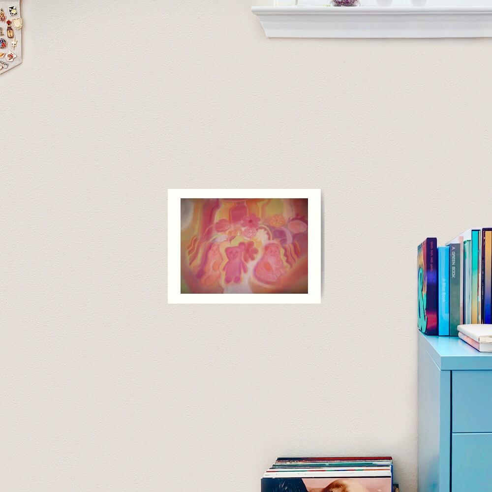 Warm Animals And Flowers Art Print