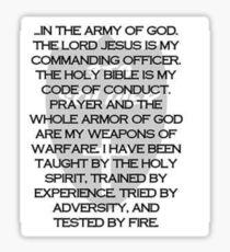 Army of God Sticker