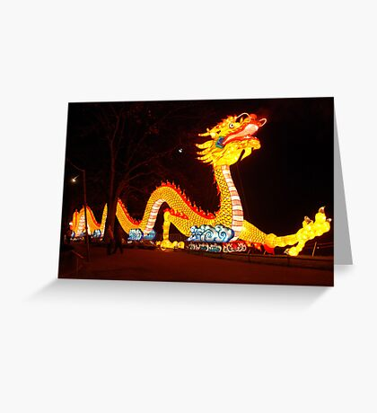 Chinese dragon in the Netherlands Greeting Card