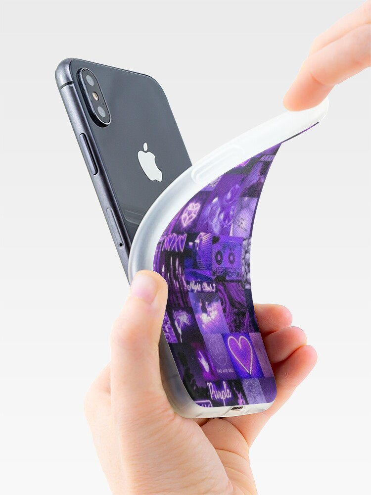 Alternate view of dark purple collage iPhone Case & Cover