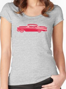 57 Chevy (Red) Women's Fitted Scoop T-Shirt