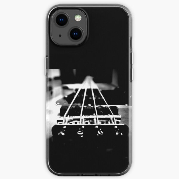 Bass Player out of Passion - Bassist / Bass Guitar Design (White print) iPhone Soft Case