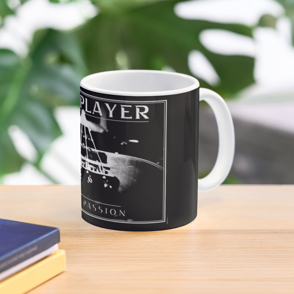 Bass Player out of Passion - Bassist / Bass Guitar Design (White print) Mug