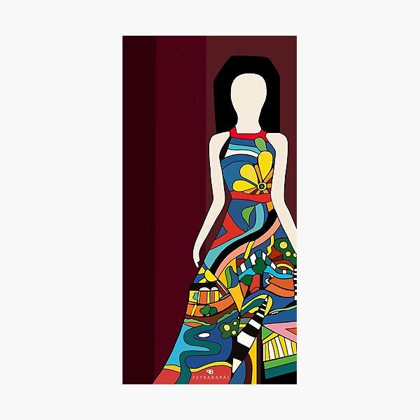 Woman in a Dress Fotodruck