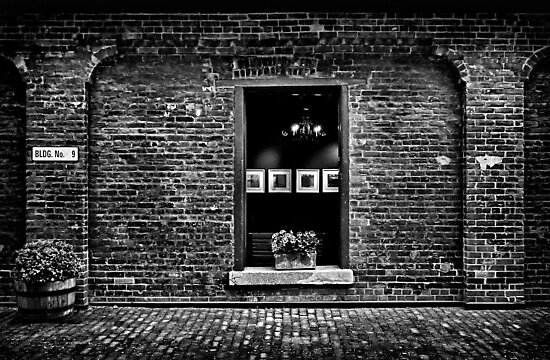 Toronto Distillery District Art Gallery Window by Brian Carson