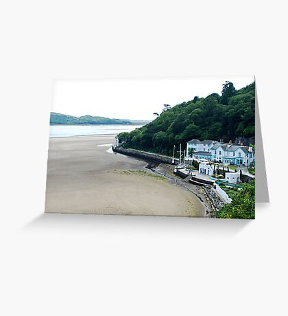 On the beach of Portmeirion (Wales) Greeting Card