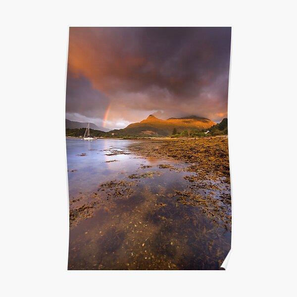 Scotland - Rainbow over Glencoe Poster