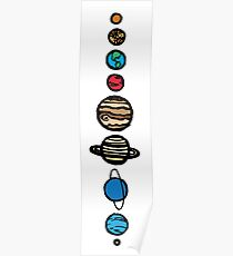 Planets Colour Poster