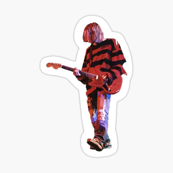 Fan Art de Kurt Cobain; Portrait de Kurt Cobain; Art Nirvana; Fan Art Nirvana Sticker