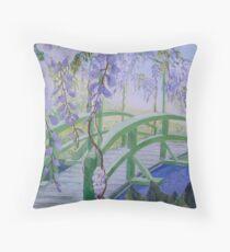 Monets Bridge Throw Pillow