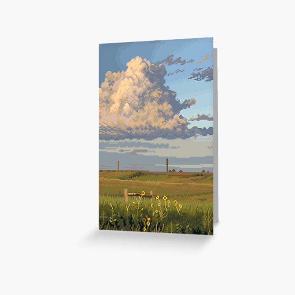 Golden Sky Mountain Greeting Card