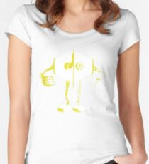 Boon Yellow Robot Women's Fitted Scoop T-Shirt