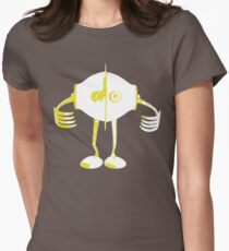 Boon Yellow Robot Women's Fitted T-Shirt