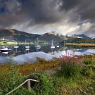 Scotland - Boats on Loch Leven by Angie Latham