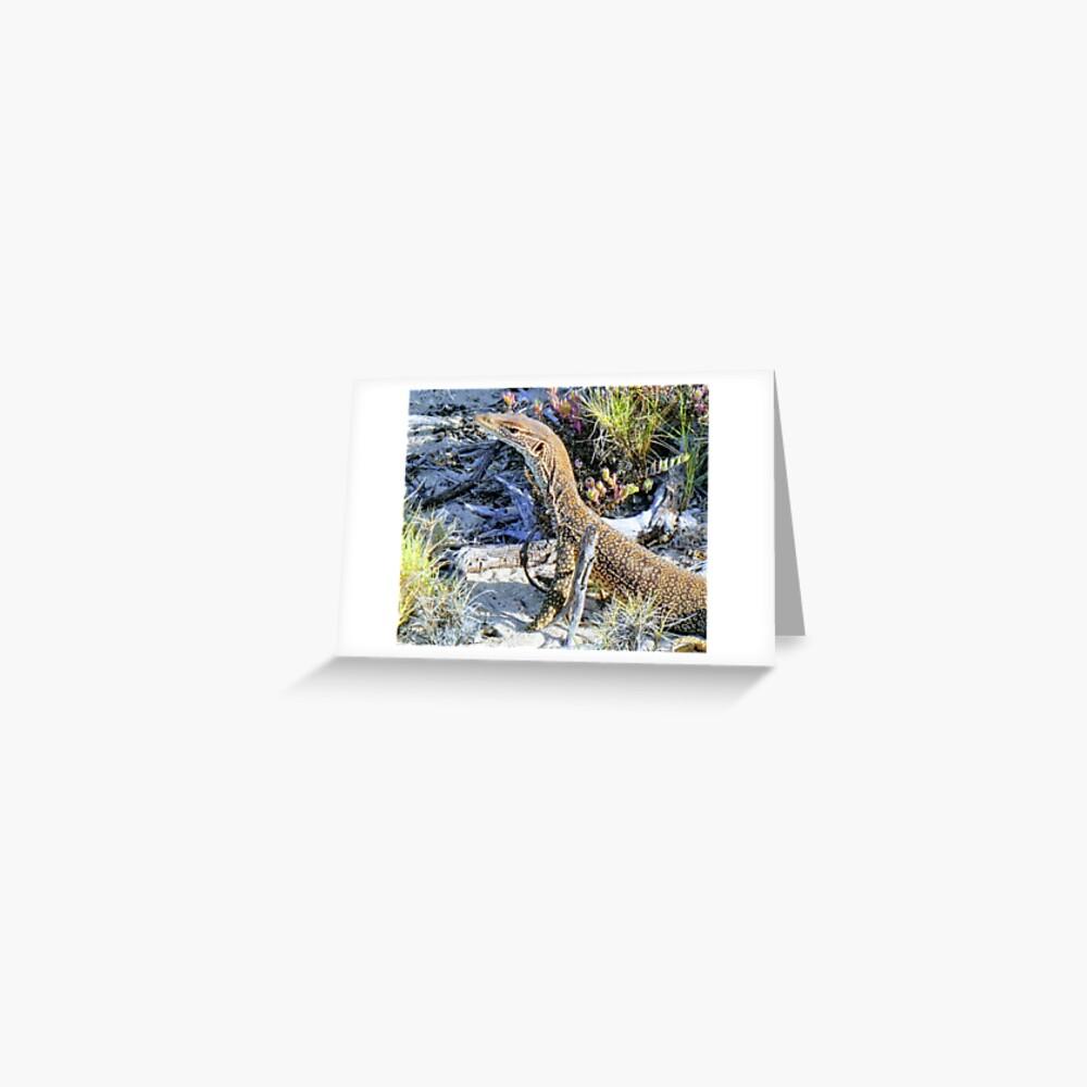 Perentie Australian Lizard Greeting Card