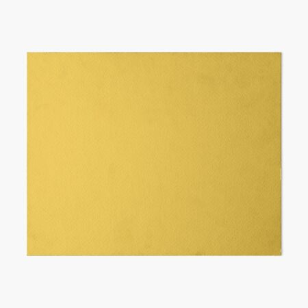 Butterscotch Yellow, Vibrant Colors, Solid Colors by Courtney Hatcher Art Board Print