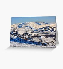 Snow in Powys Greeting Card