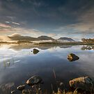 Scotland- Autumn Mist on Loch Ba by Angie Latham