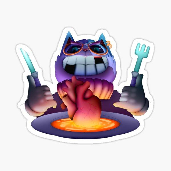 Hungry Heartbreaker Cat Sticker