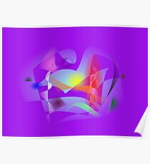 Small World Purple  Poster