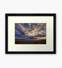 Dying Thunderstorms Framed Print