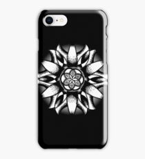 Mandala in black and white iPhone Case/Skin