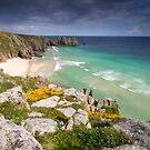 Cornwall - Atlantic Blues by Angie Latham