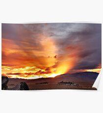 Palomino Valley Nevada Sunset Poster