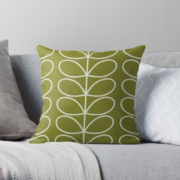 ORLA KIELY LINEAR STEM GREEN Throw Pillow