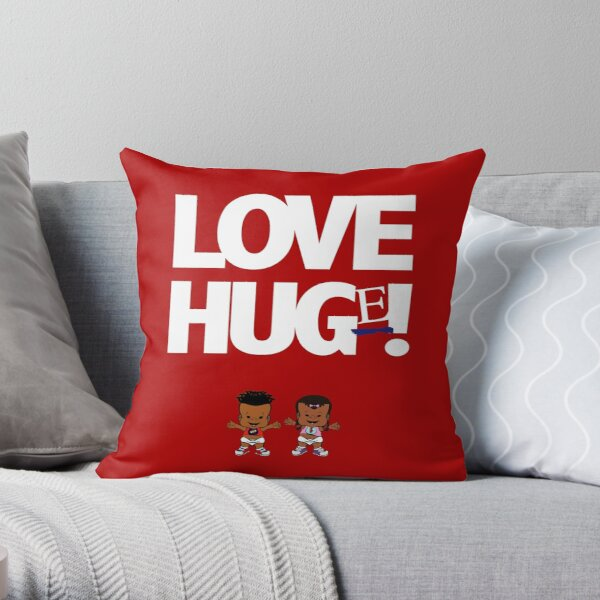 PBTEEZ RB1282 Love Hug(e) 12 Red Throw Pillow