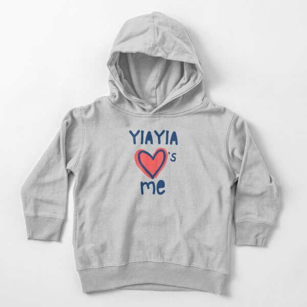 Yiayia Hearts Me Toddler Pullover Hoodie
