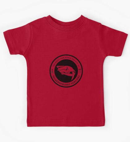 The Society of Palaeontology Fanciers (Black on Light) Kids Clothes