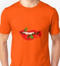 A TASTE OF LOVE- SEXY LIPS EXPRESSIONS-VARIOUS APPAREL..PILLOWS-TEE SHIRTS-TOTE BAG-JOURNAL -SCARF-LEGGINGS-ECT. T-Shirt