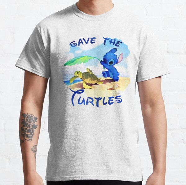 Save The Turtles Stitch Gift For Fans, For Men And Women, Gift Halloween, Thanksgiving, Christmas Day Classic T-Shirt