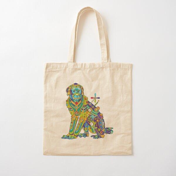 Vervet Monkey Cotton Tote Bag