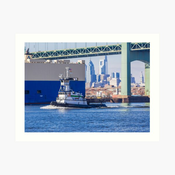 Philadelphia Working Waterfront Art Print