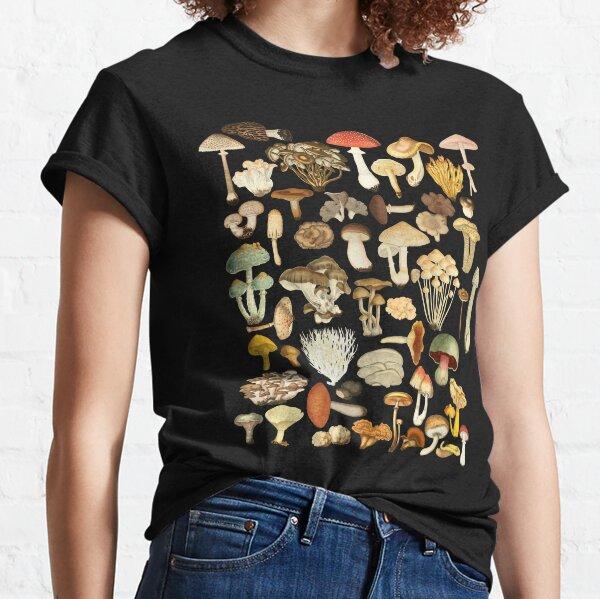 Mushroom Lover Botanical Fungi Plants Morel Psychedelic Mushroom Forager Mushroom Gift Classic T-Shirt