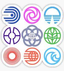 EPCOT-Pavillons Sticker