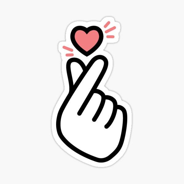 Symbole d'amour de coeur coréen Kpop Sticker