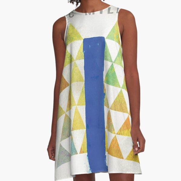 Mac Blue Slide Park A-Line Dress