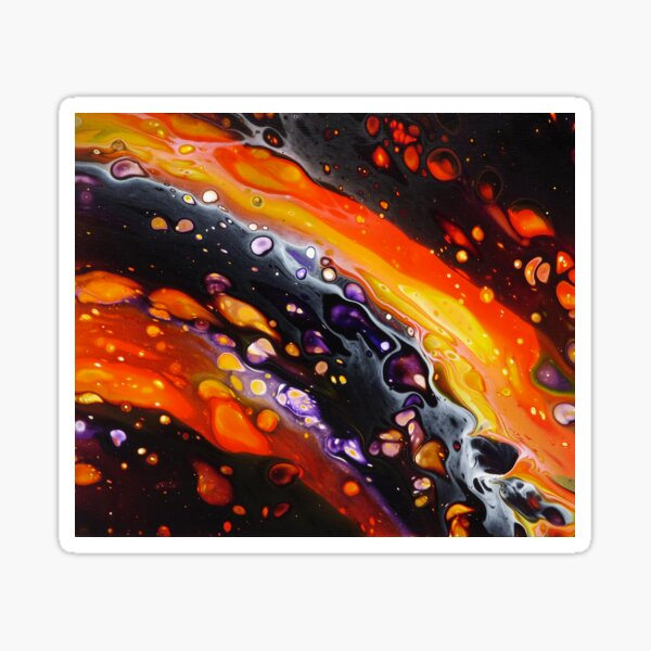 Amazing abstract painting by Minisa Robinson Sticker