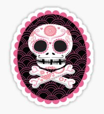 Pink Sugar Skull Vector Sticker