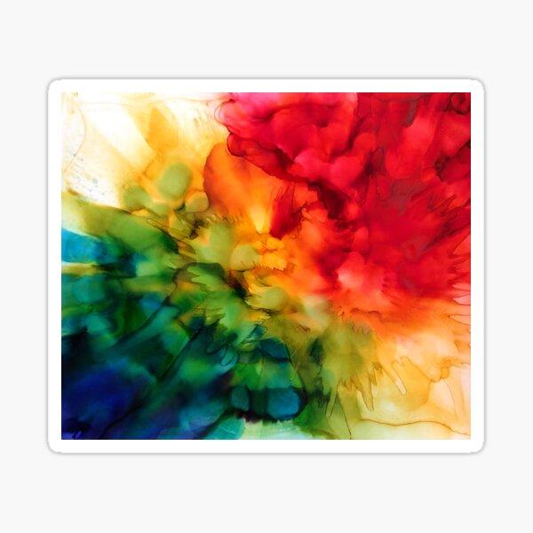 Rainbow Burst painting by Minisa Robinson Sticker