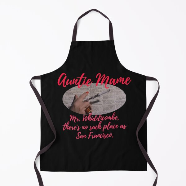 Auntie Mame working as phone operator,out of work, depression Apron